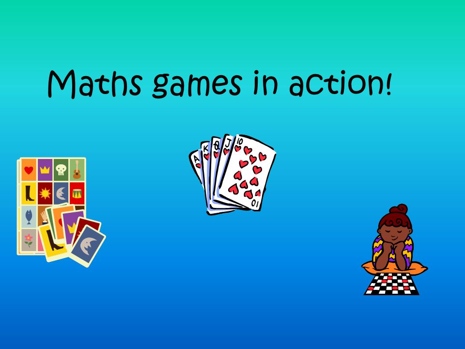 Maths games in action!