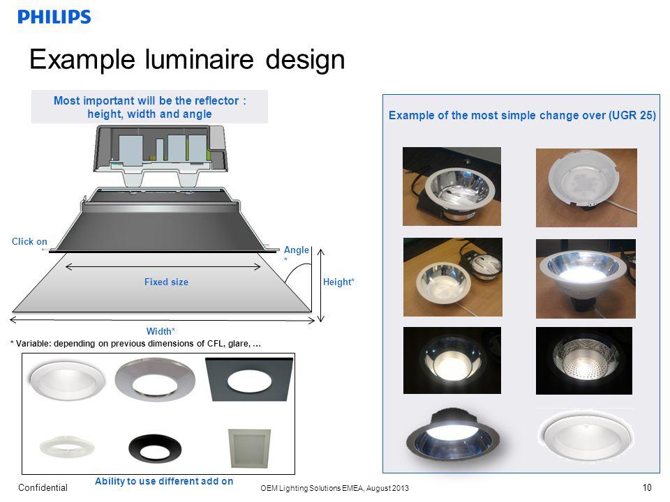 Example luminaire design