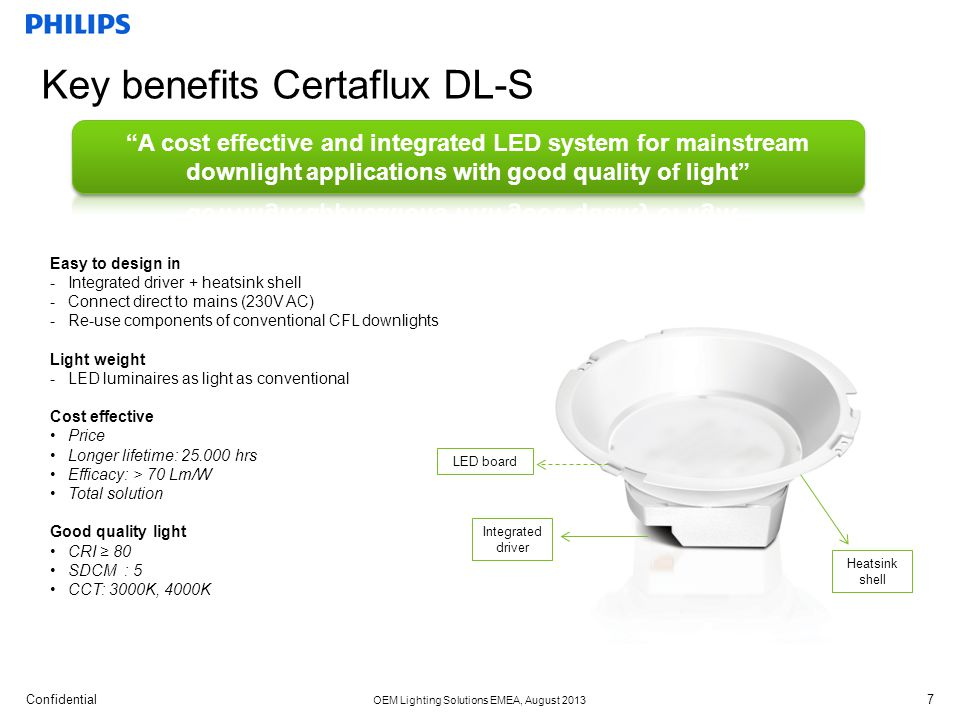 Key benefits Certaflux DL-S