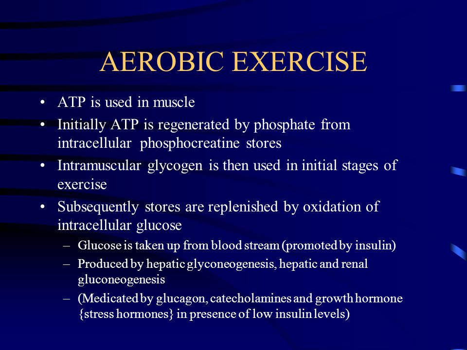AEROBIC EXERCISE ATP is used in muscle