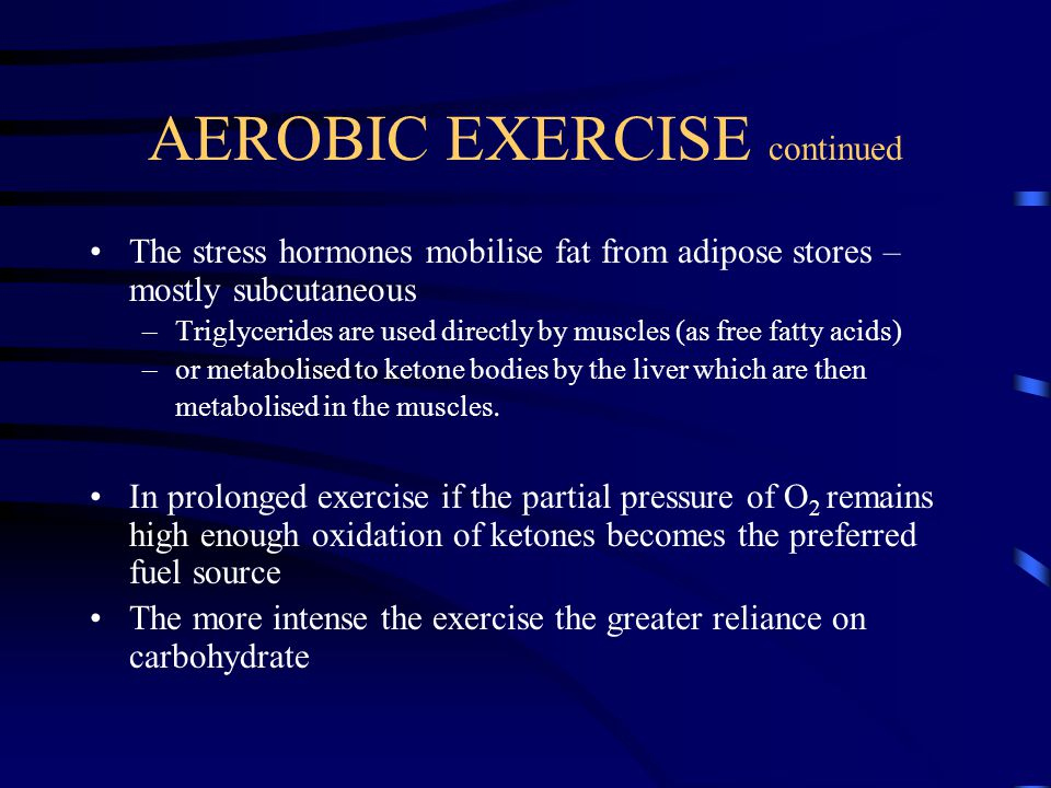 AEROBIC EXERCISE continued