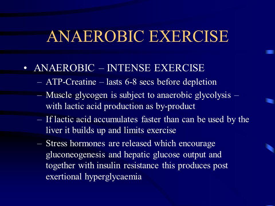 ANAEROBIC EXERCISE ANAEROBIC – INTENSE EXERCISE