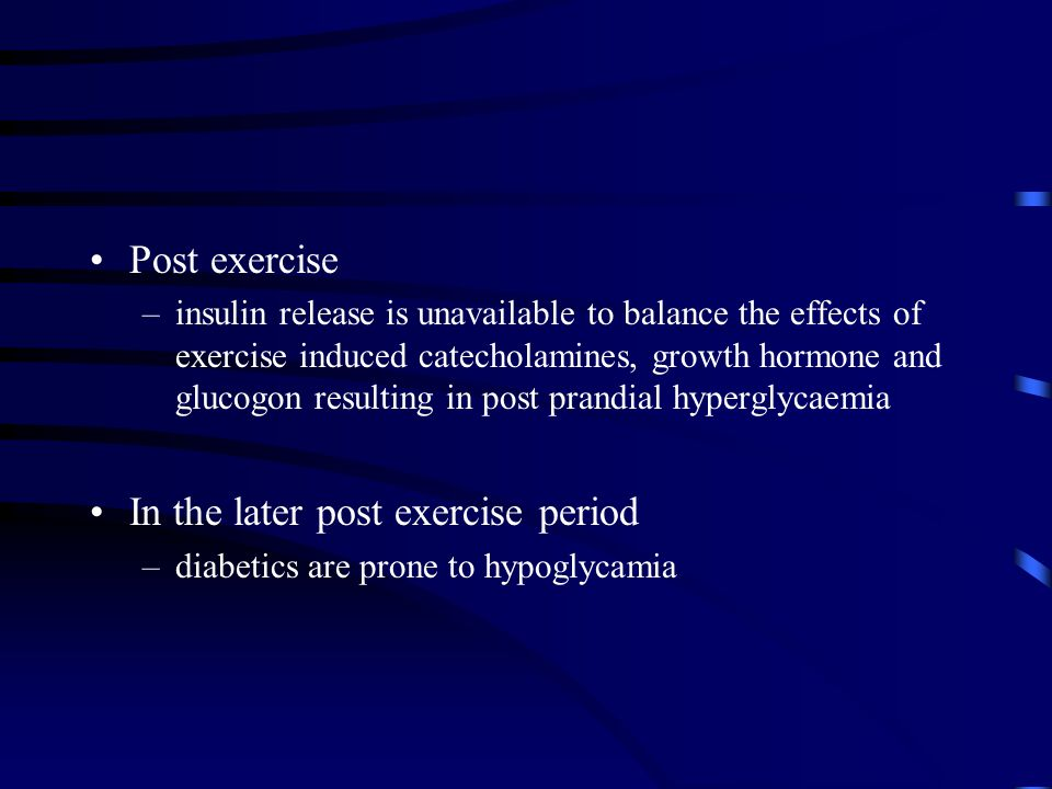 In the later post exercise period