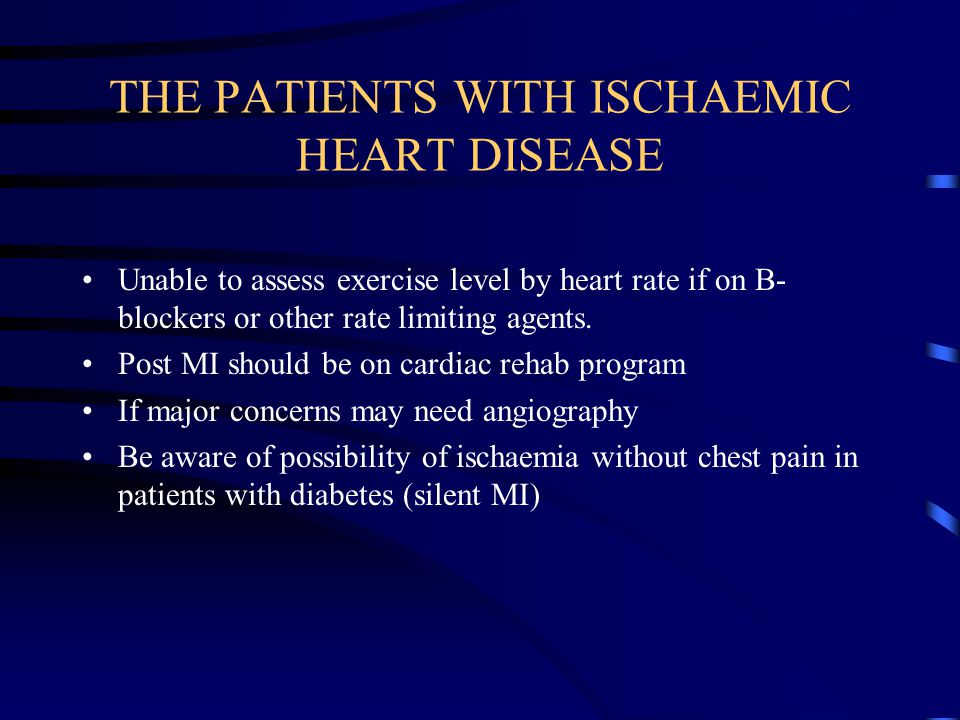 THE PATIENTS WITH ISCHAEMIC HEART DISEASE