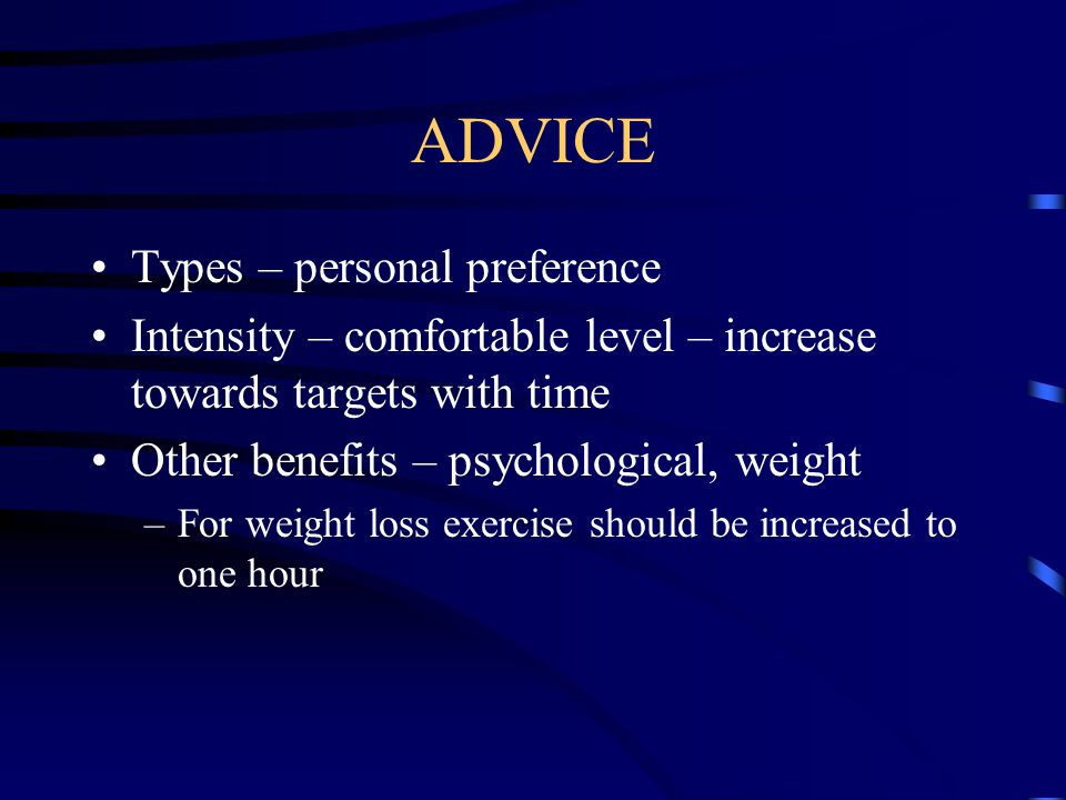 ADVICE Types – personal preference