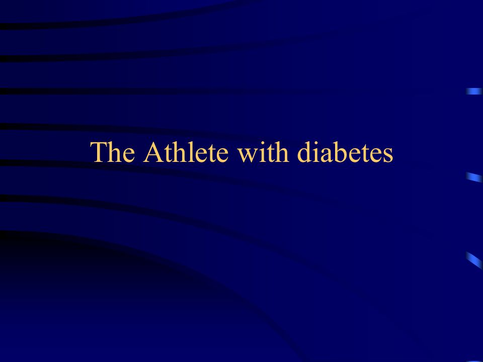 The Athlete with diabetes