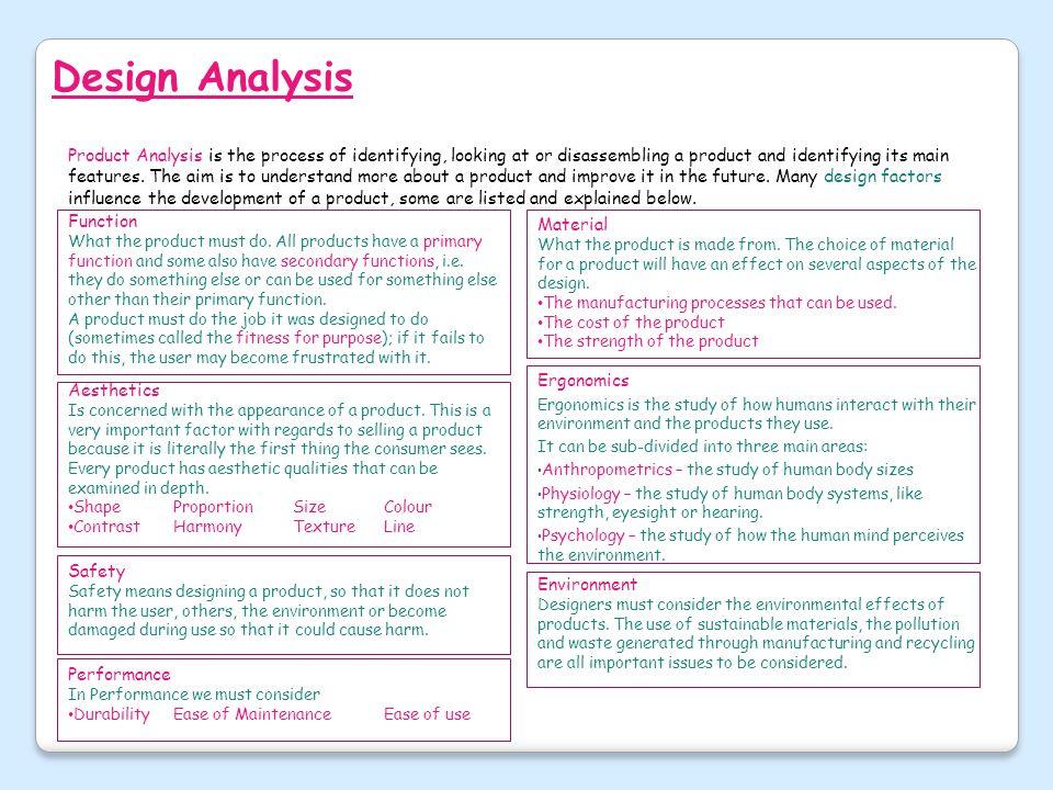 Design Analysis