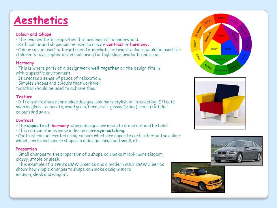 Aesthetics Colour and Shape
