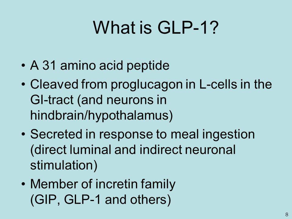 What is GLP-1 A 31 amino acid peptide