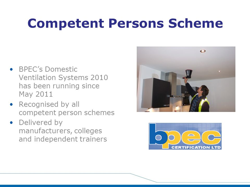 Competent Persons Scheme