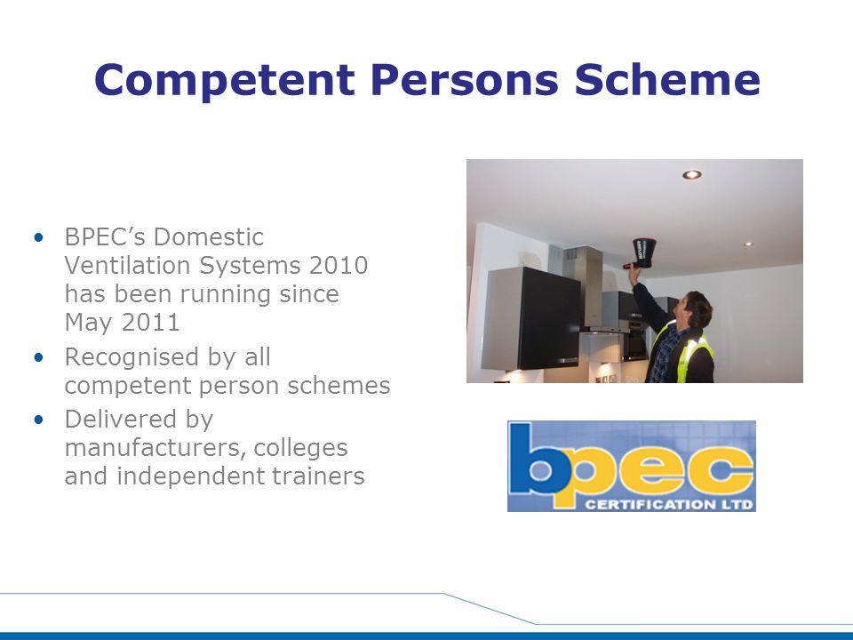 Competent Persons Scheme