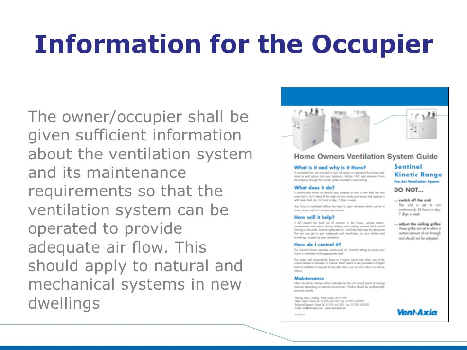 Information for the Occupier