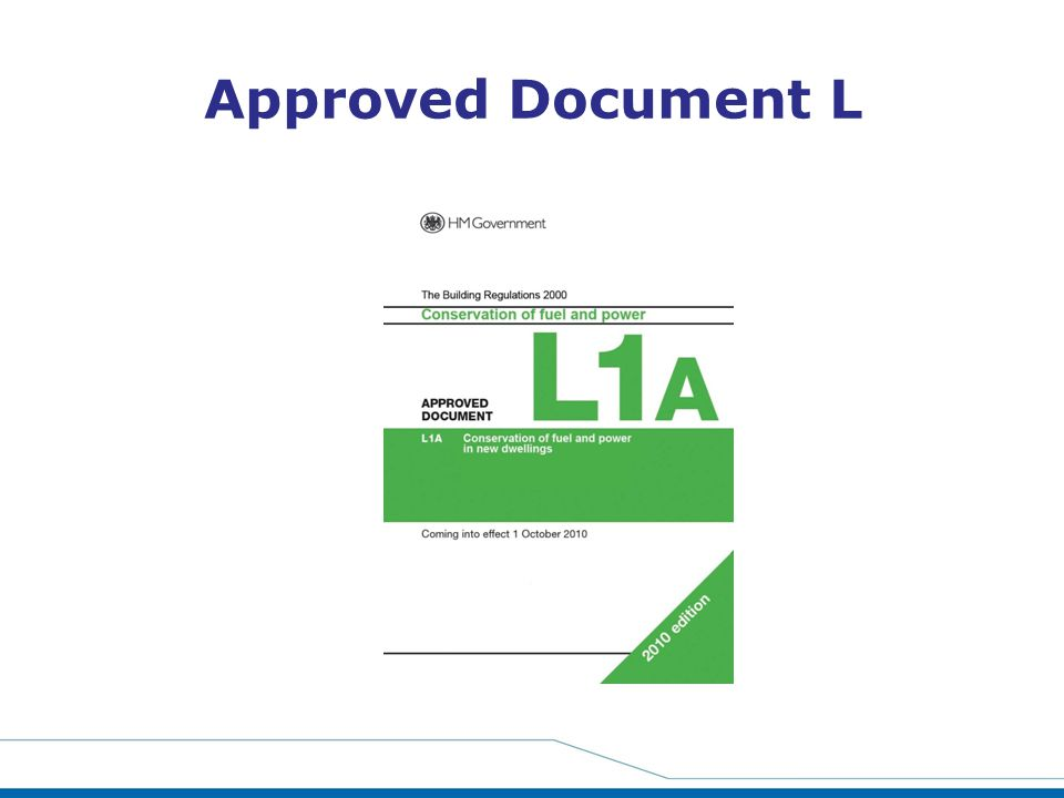 Approved Document L Part L also came into force on 1st October.