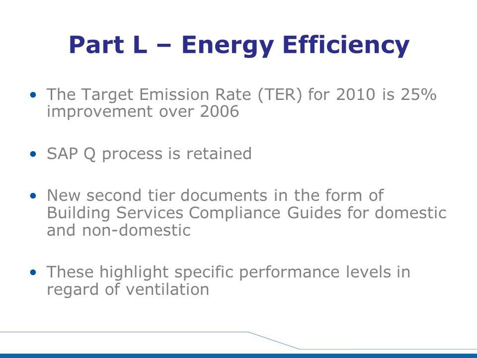 Part L – Energy Efficiency