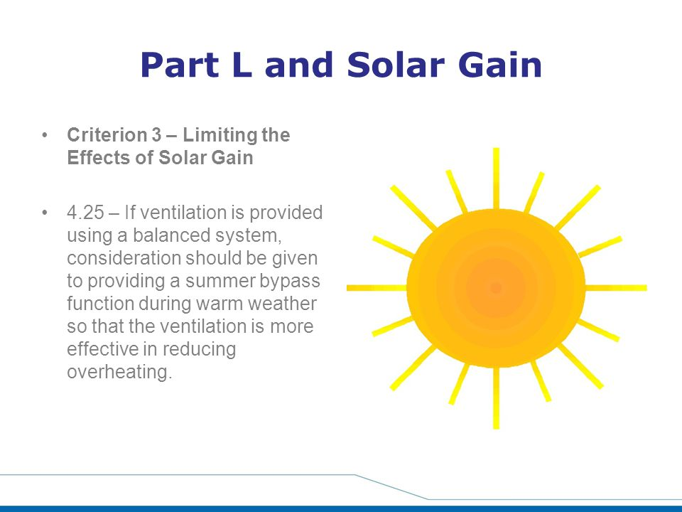 Part L and Solar Gain Criterion 3 – Limiting the Effects of Solar Gain