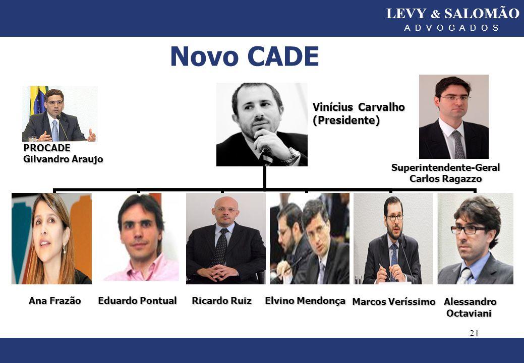 Novo CADE LEVY & SALOMÃO Marcos Veríssimo Alessandro Octaviani