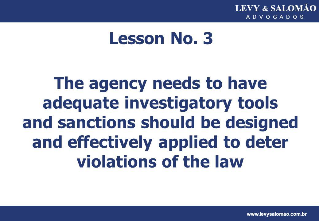 LEVY & SALOMÃO A D V O G A D O S. Lesson No. 3.