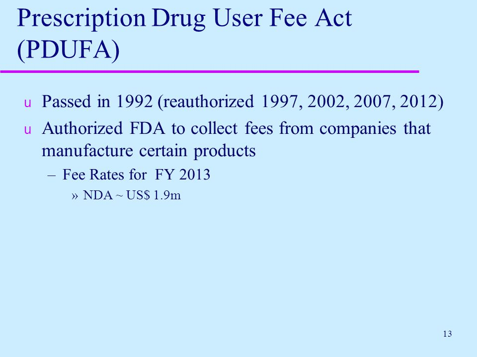 Prescription Drug User Fee Act (PDUFA)