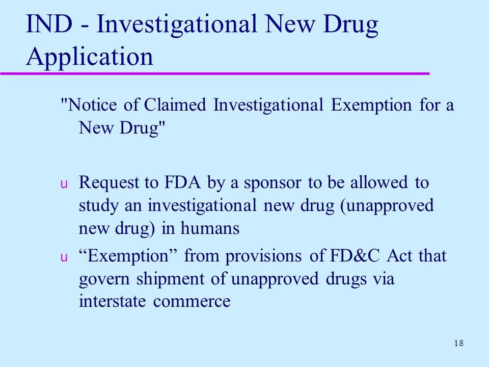 IND - Investigational New Drug Application
