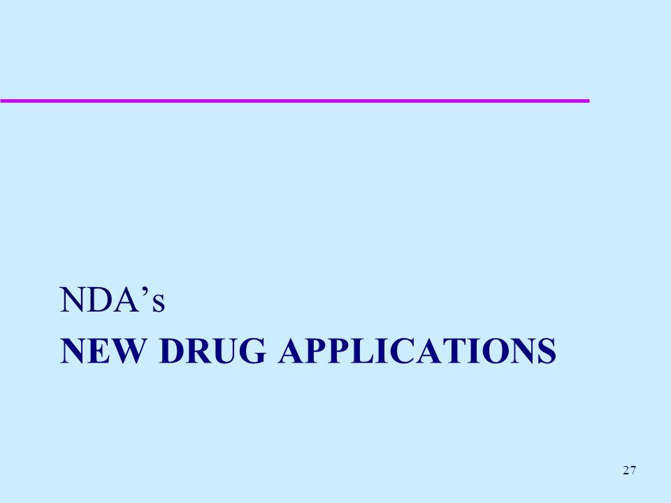 NDA's New drug applications