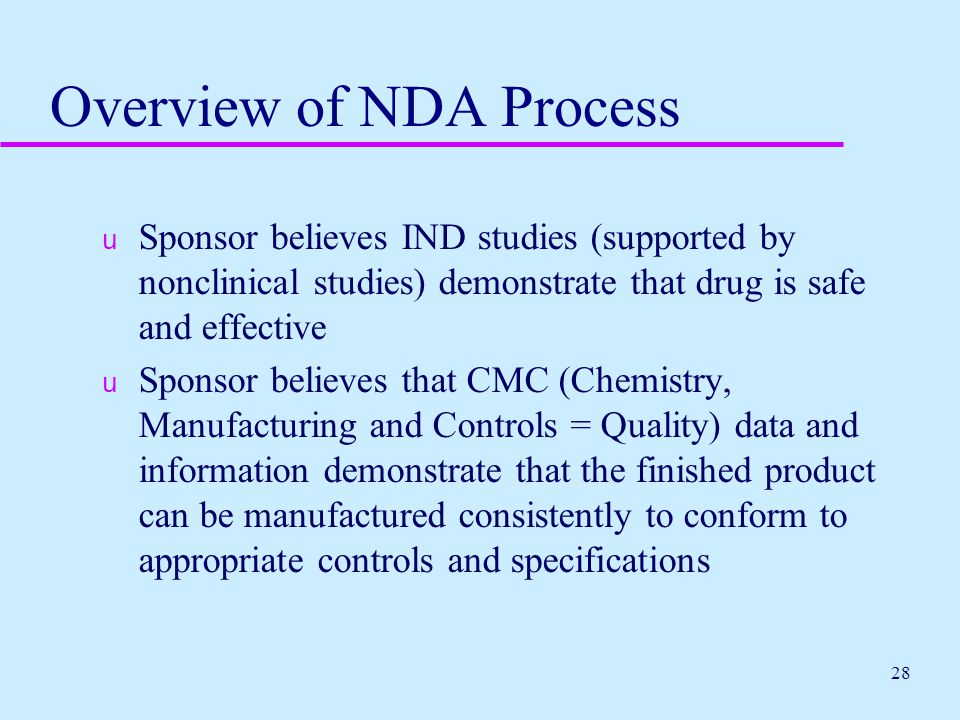 Overview of NDA Process