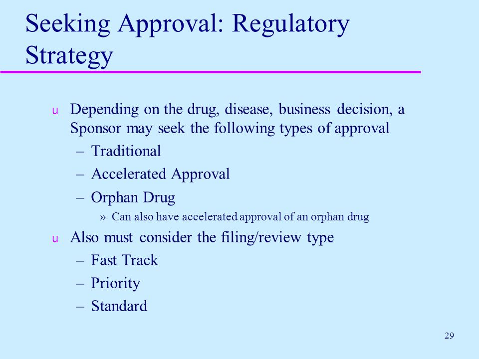 Seeking Approval: Regulatory Strategy