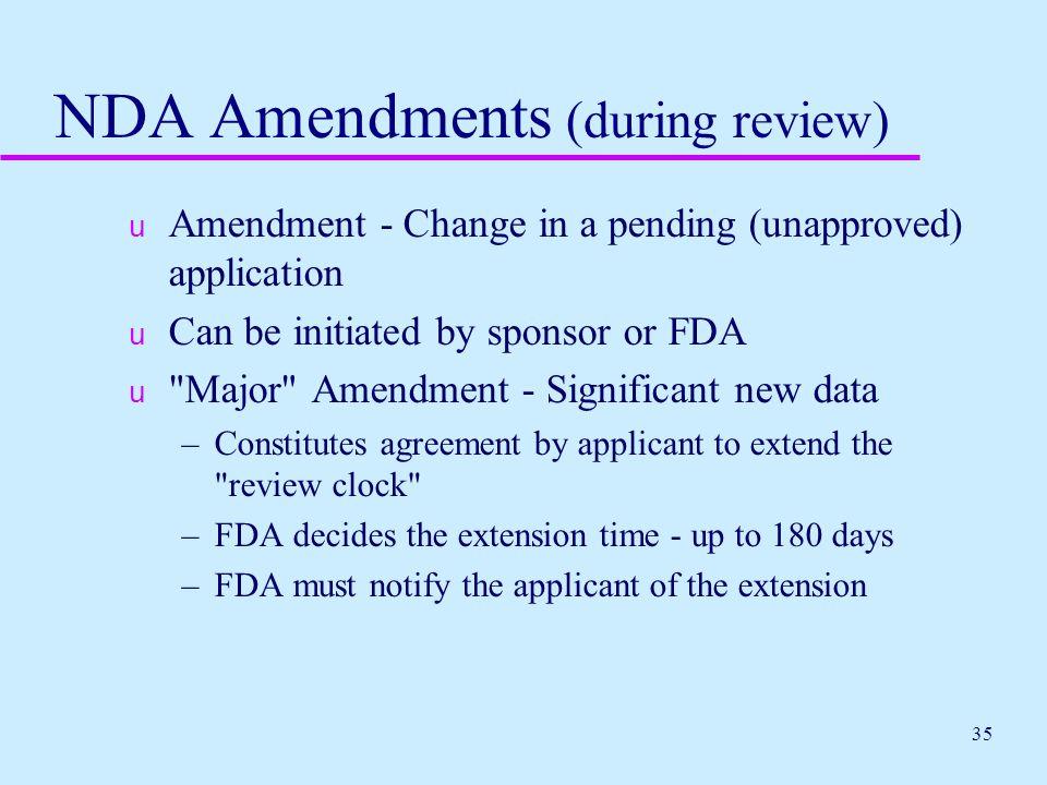 NDA Amendments (during review)