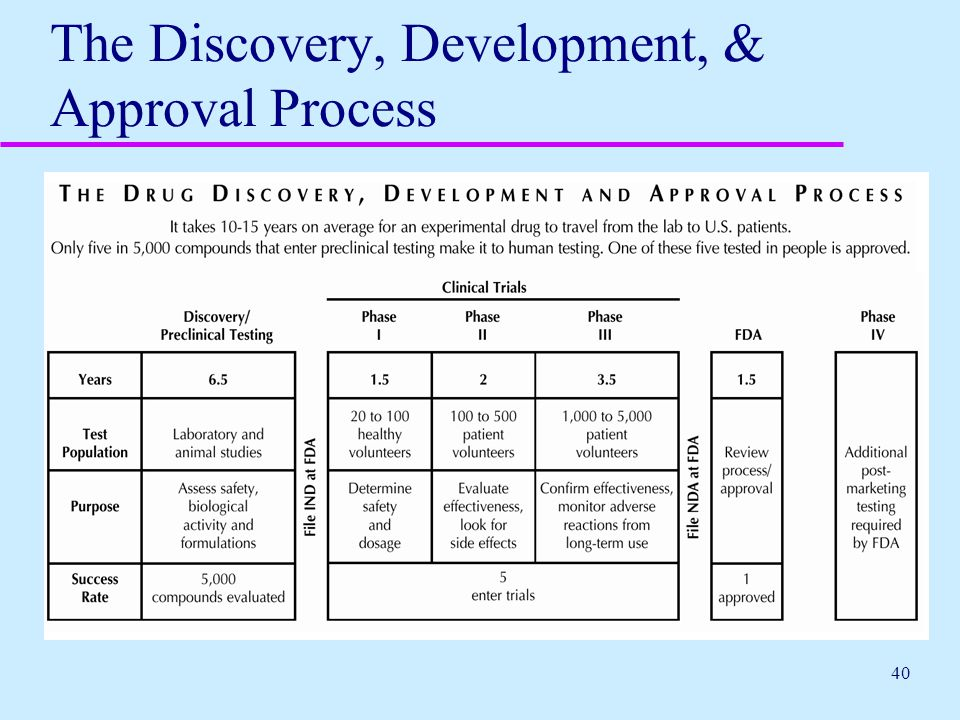 The Discovery, Development, & Approval Process