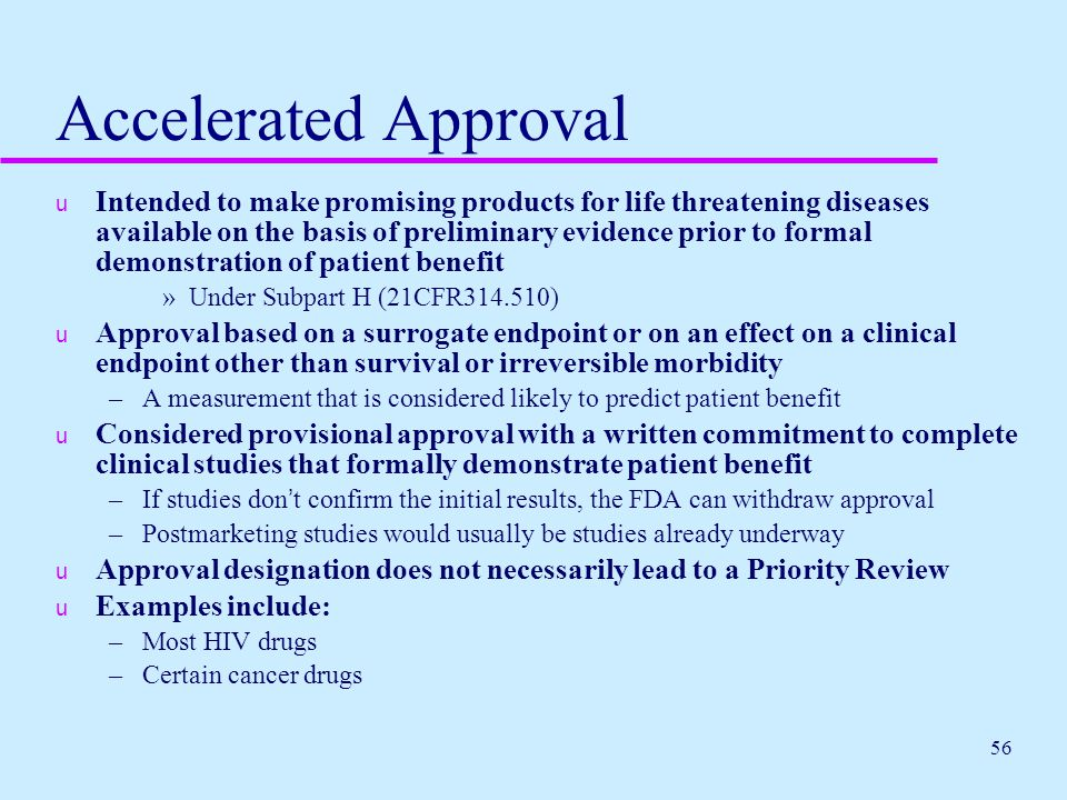 Accelerated Approval