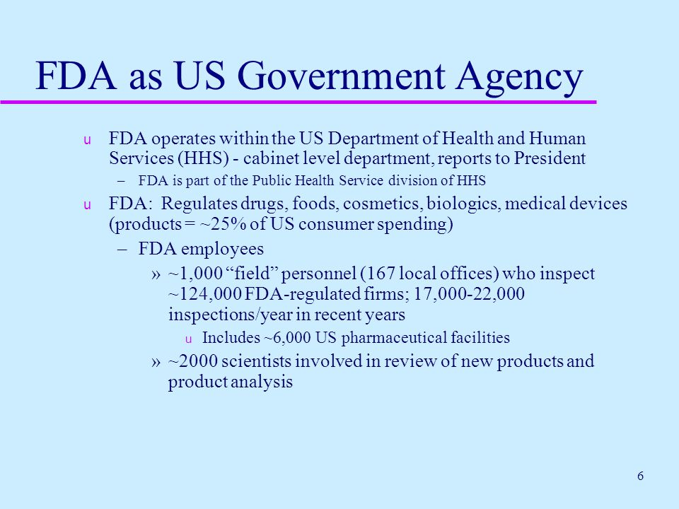 FDA as US Government Agency