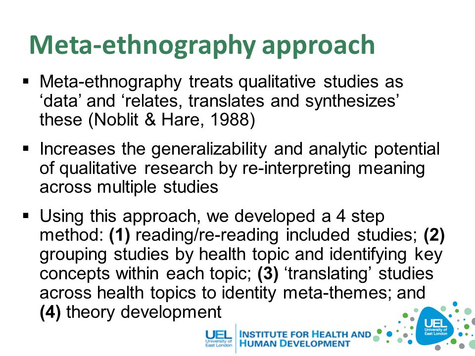 Meta-ethnography approach