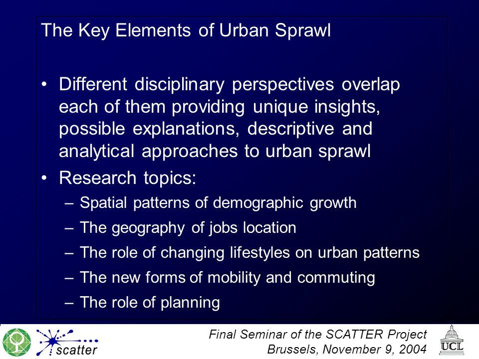The Key Elements of Urban Sprawl