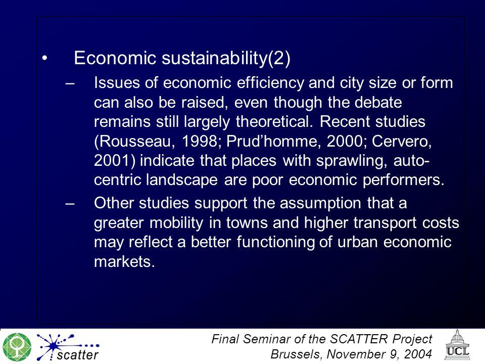 Economic sustainability(2)