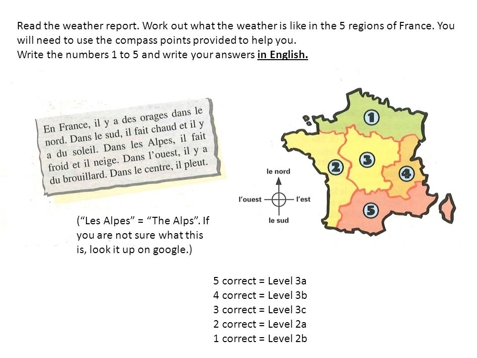 Read the weather report