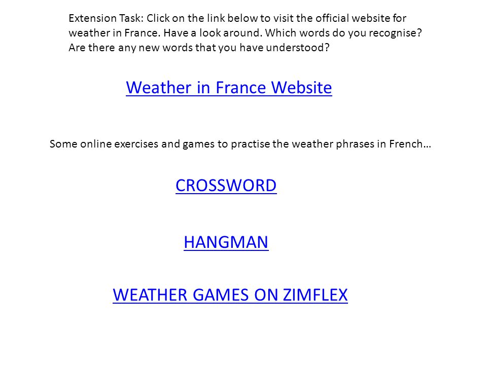 Weather in France Website
