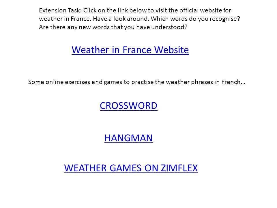 Weather in France Website