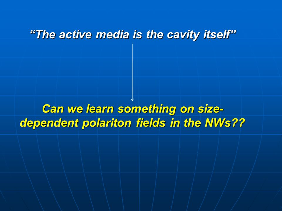 The active media is the cavity itself