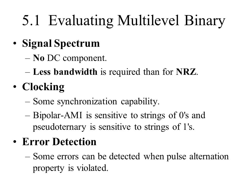 5.1 Evaluating Multilevel Binary