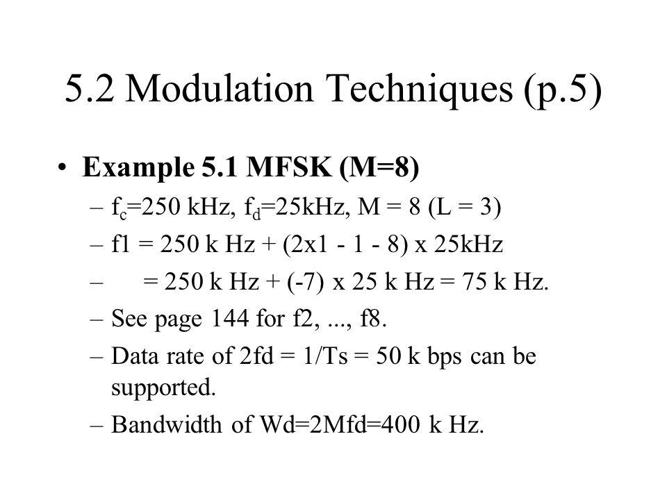 5.2 Modulation Techniques (p.5)