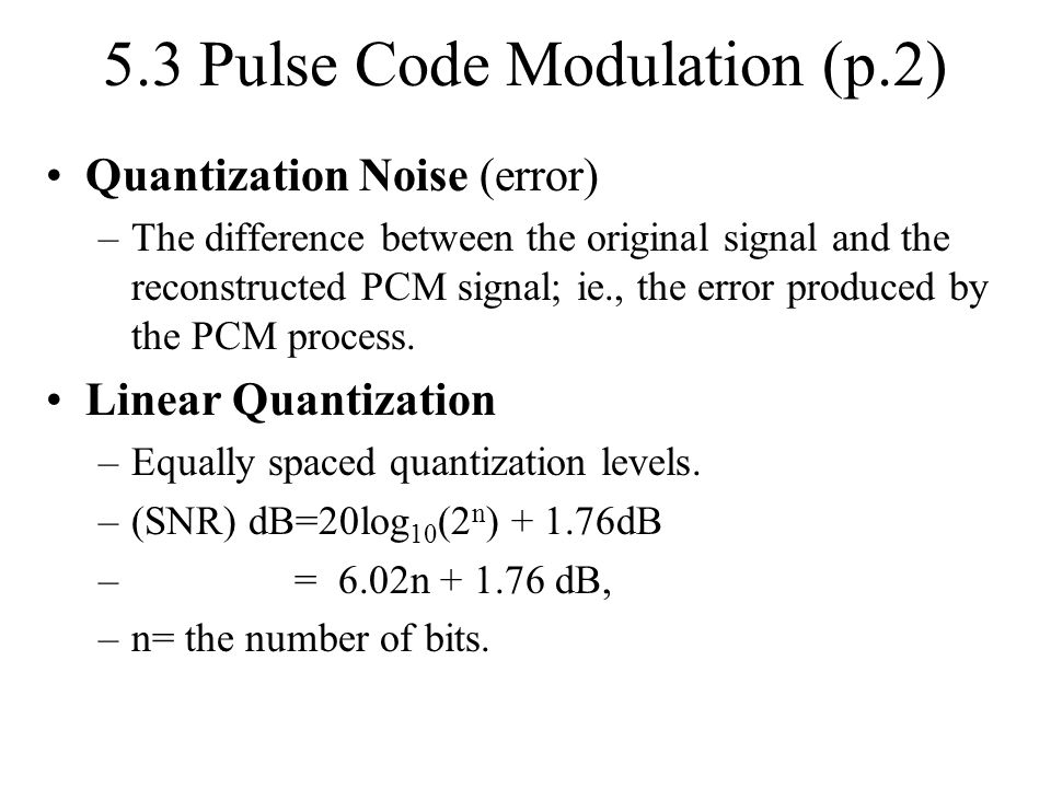 5.3 Pulse Code Modulation (p.2)