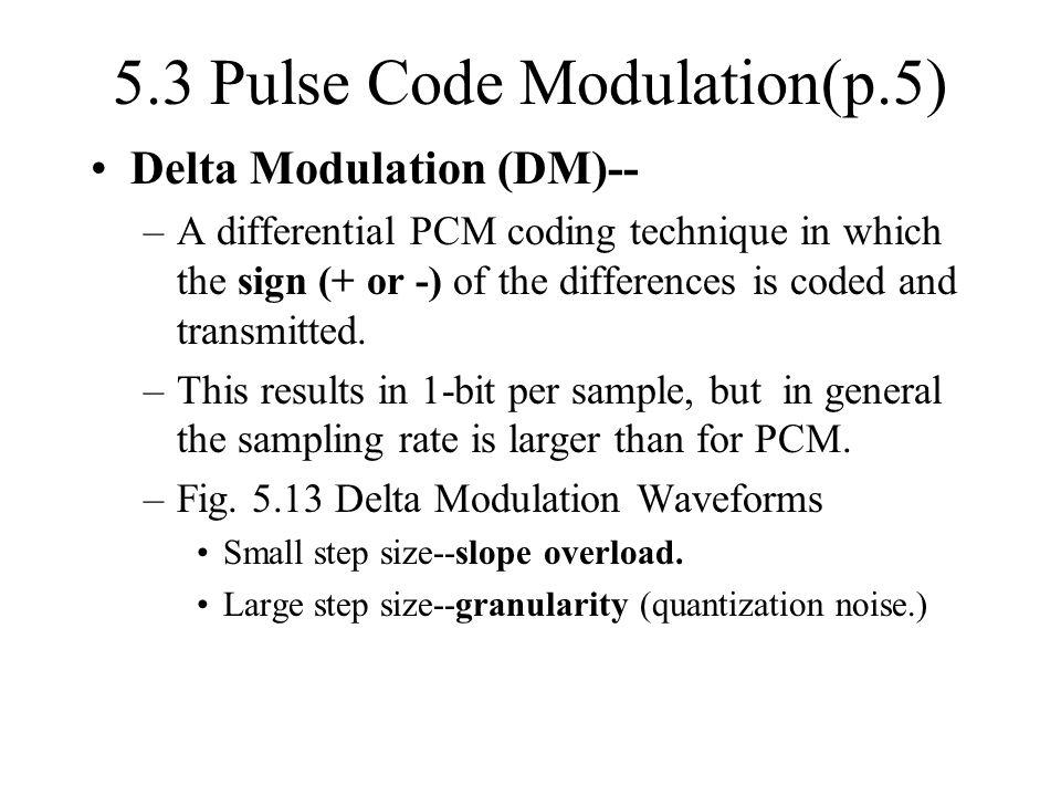 5.3 Pulse Code Modulation(p.5)