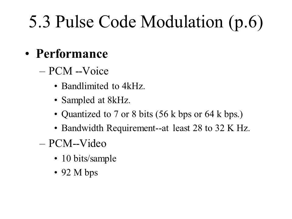 5.3 Pulse Code Modulation (p.6)