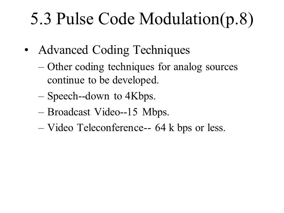 5.3 Pulse Code Modulation(p.8)