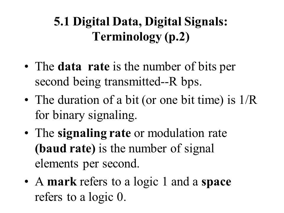 5.1 Digital Data, Digital Signals: Terminology (p.2)