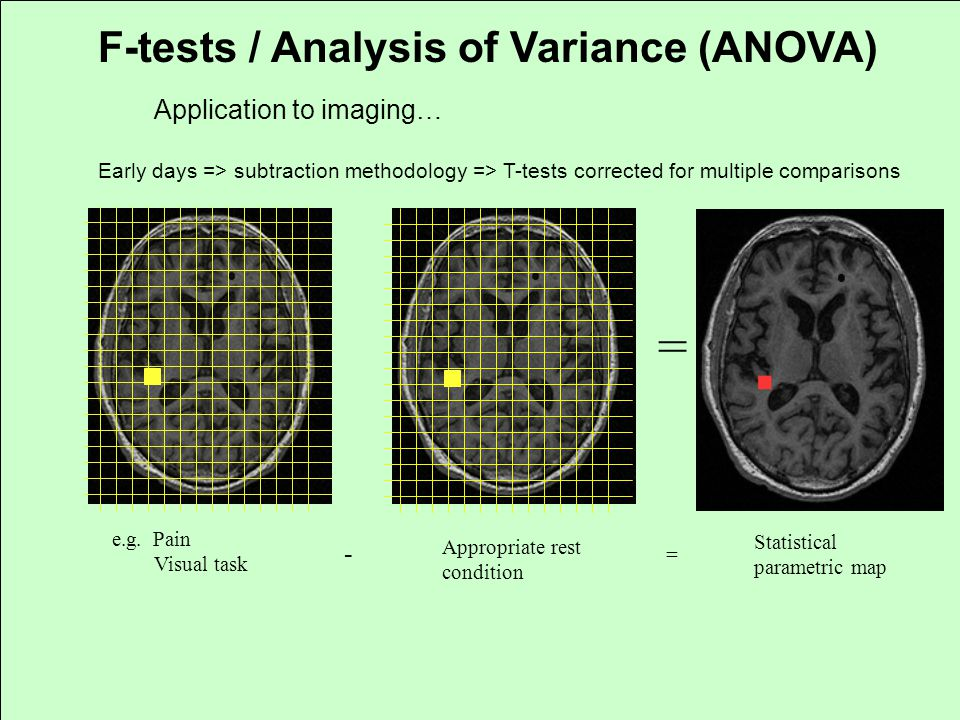 = F-tests / Analysis of Variance (ANOVA) Application to imaging… -