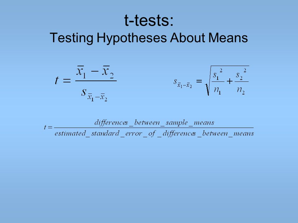 t-tests: Testing Hypotheses About Means