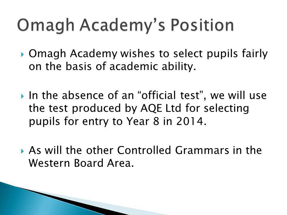 Omagh Academy's Position