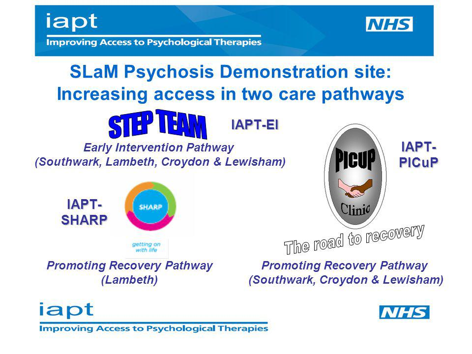 SLaM Psychosis Demonstration site: Increasing access in two care pathways