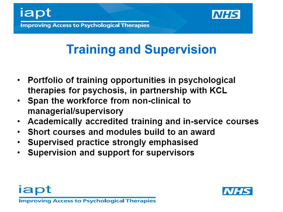 Training and Supervision