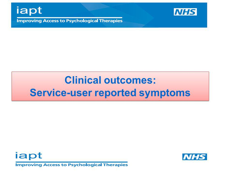 Clinical outcomes: Service-user reported symptoms